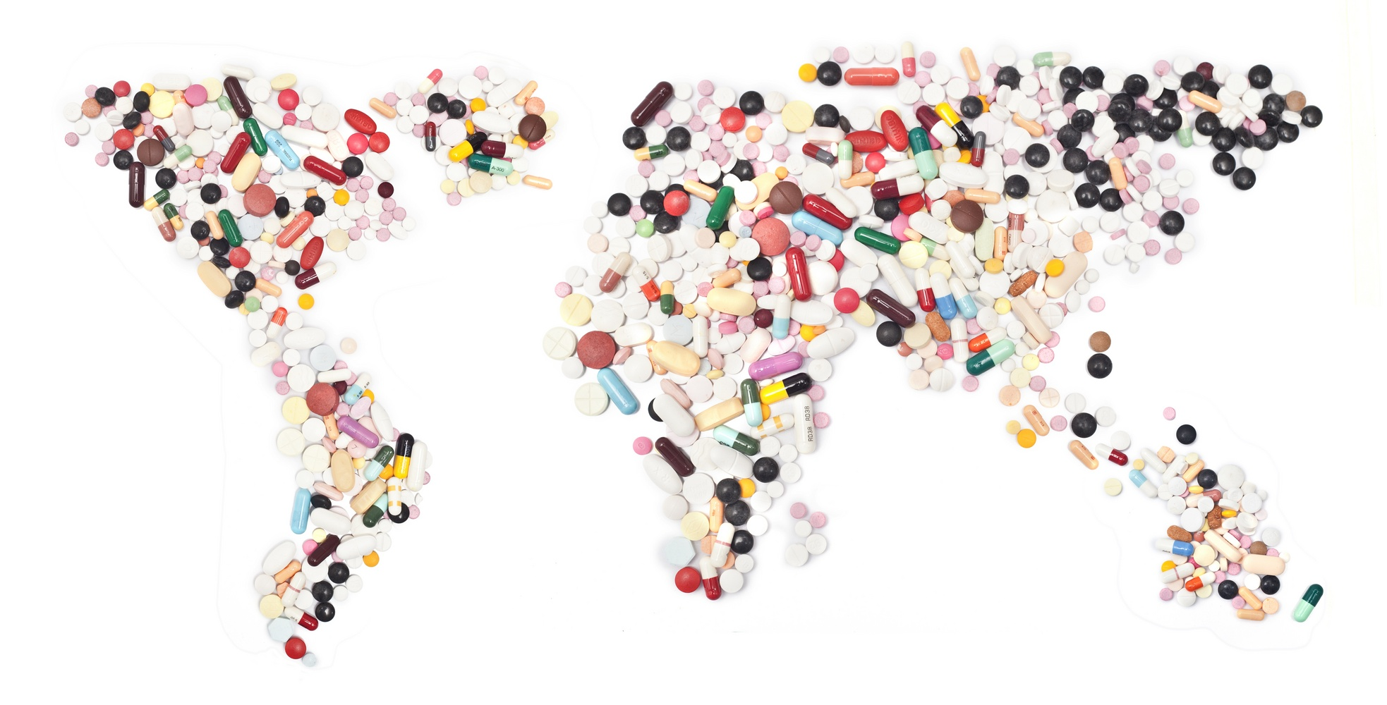 Target Product Profile solution. Graphic of pills in the shape of the globe.
