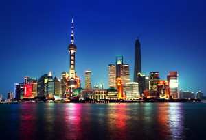Drug Development Market Access Covance Shanghai at night, China