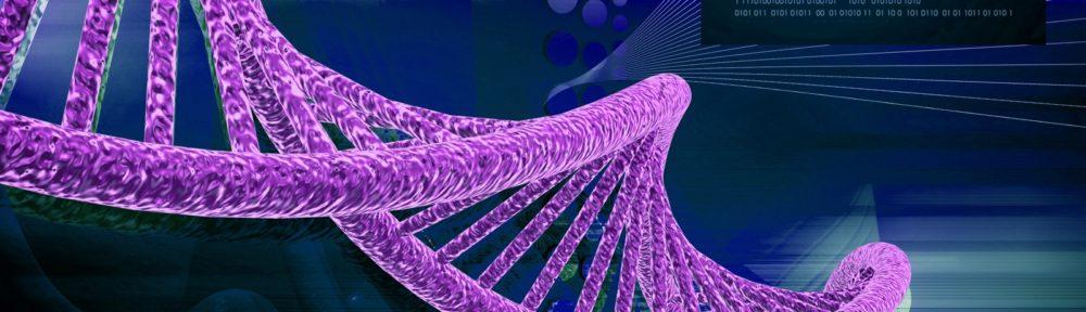 Purple DNA Strand